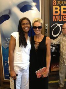 "Arma-Faye Wright and I after the Broadway Musical, ""CHICAGO"""