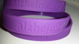 "Alzheimer's Awareness Bracelet to be given away Thursday. You must only  ""like"" my page here, and then share the link on facebook. www.msopenmic.com GOOD LUCK! Winner will be chosen Thursday around 5pm."